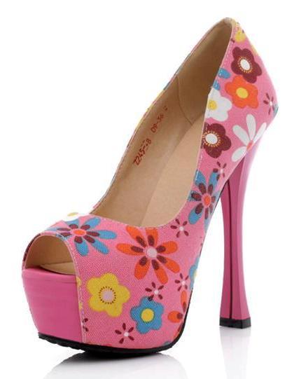 Swati Modo Floral Peep toe