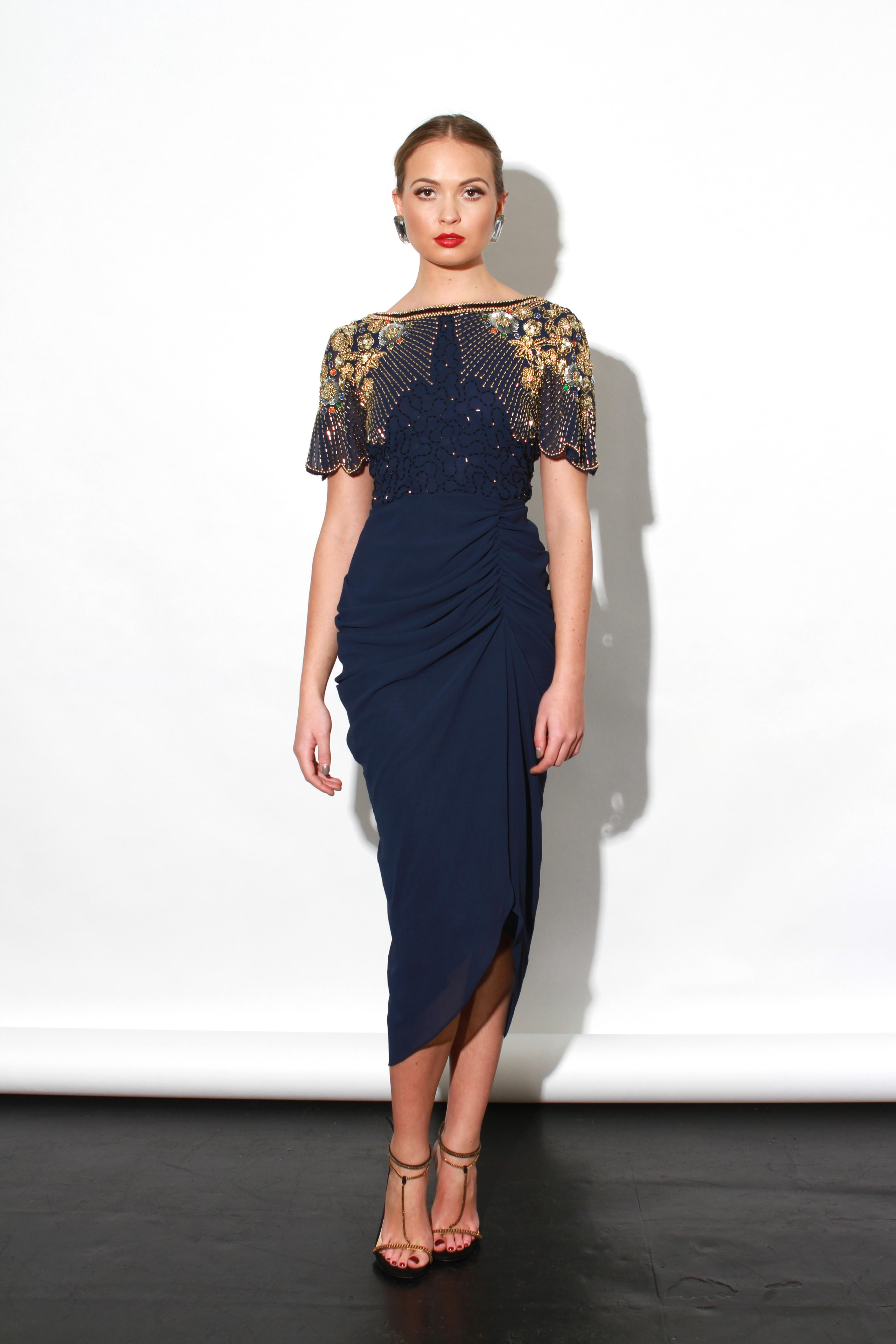 Virgos Lounge - Denise Dress Blue