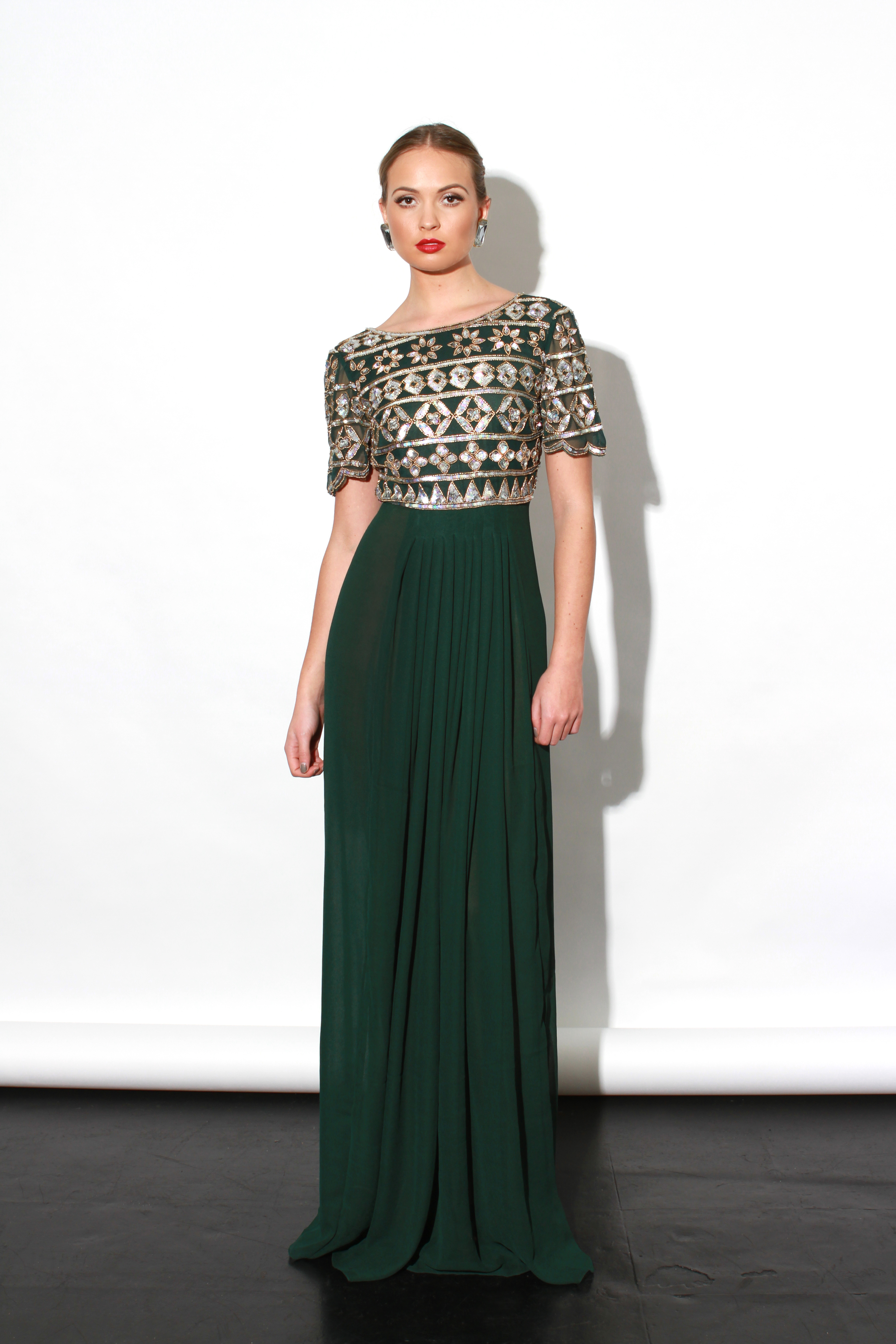 Virgos Lounge - Erin Dress Green