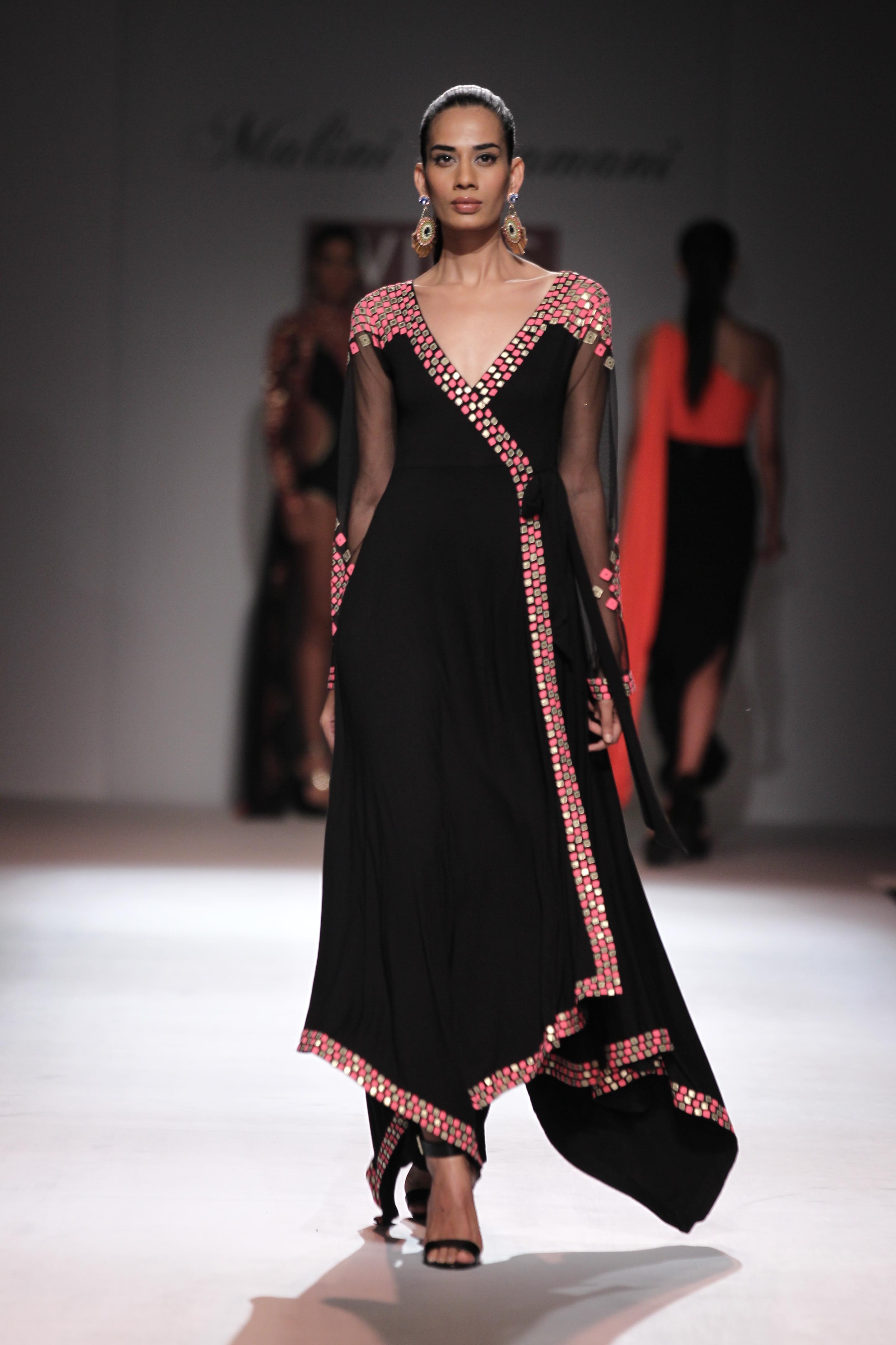 Malini Ramani - Pomegranate Wrap Dress