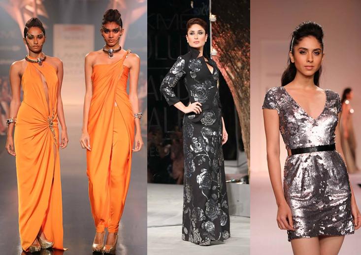 Gaurav Gupta, Kareena Kapoor in Rajesh Pratap Singh, Kommal Sood. Lakmé Fashion Week