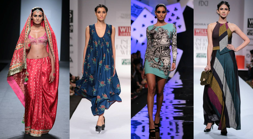 Anupamaa Dayal, Pinnacle by Shruti Sancheti, Pankaj & Nidhi, Mandira Wirk Images: Wills Lifestyle India Fashion Week - Fashion Design Council of India