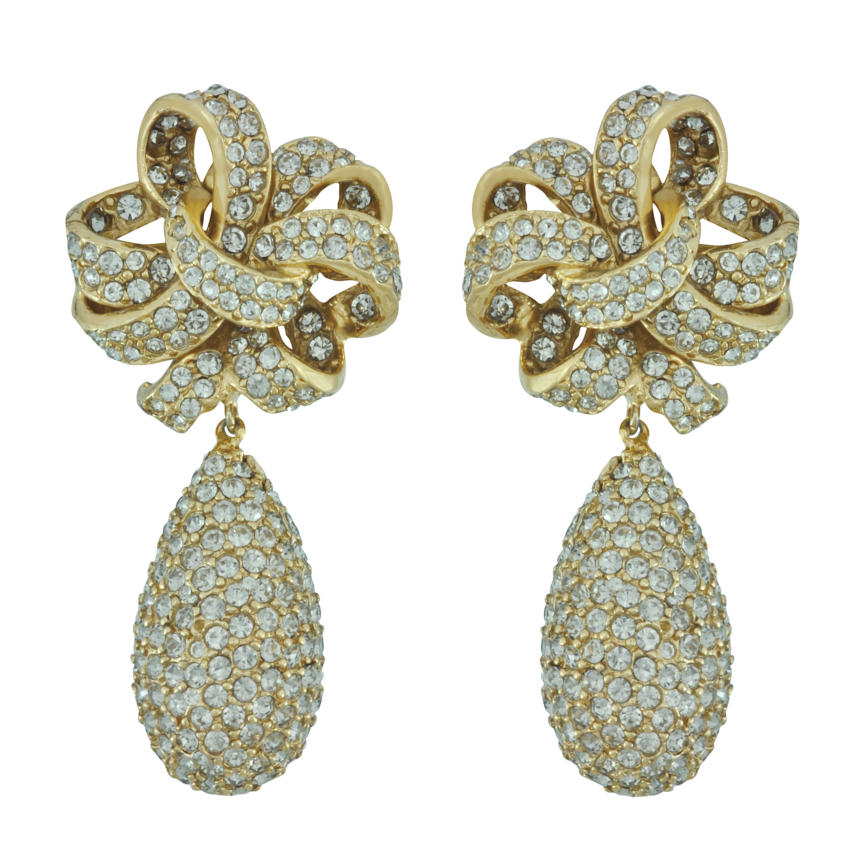 Ciner Elle Crystal Drop Earrings - Sophie's Closet