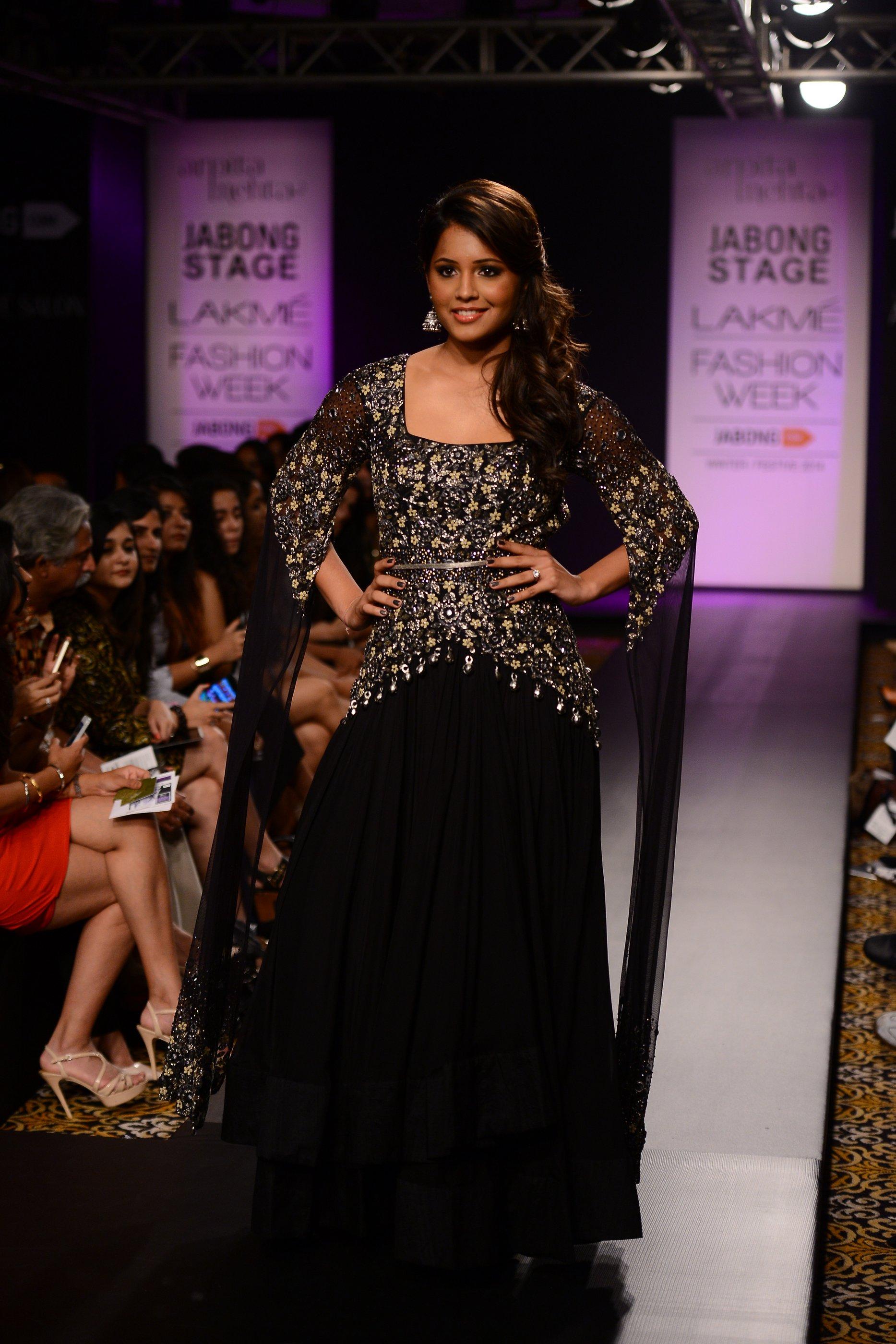 "Dipika Pallikal for Arpita Mehta's ""STARLIGHT"" at the Winter Festive Lakme Fashion Week 2014"