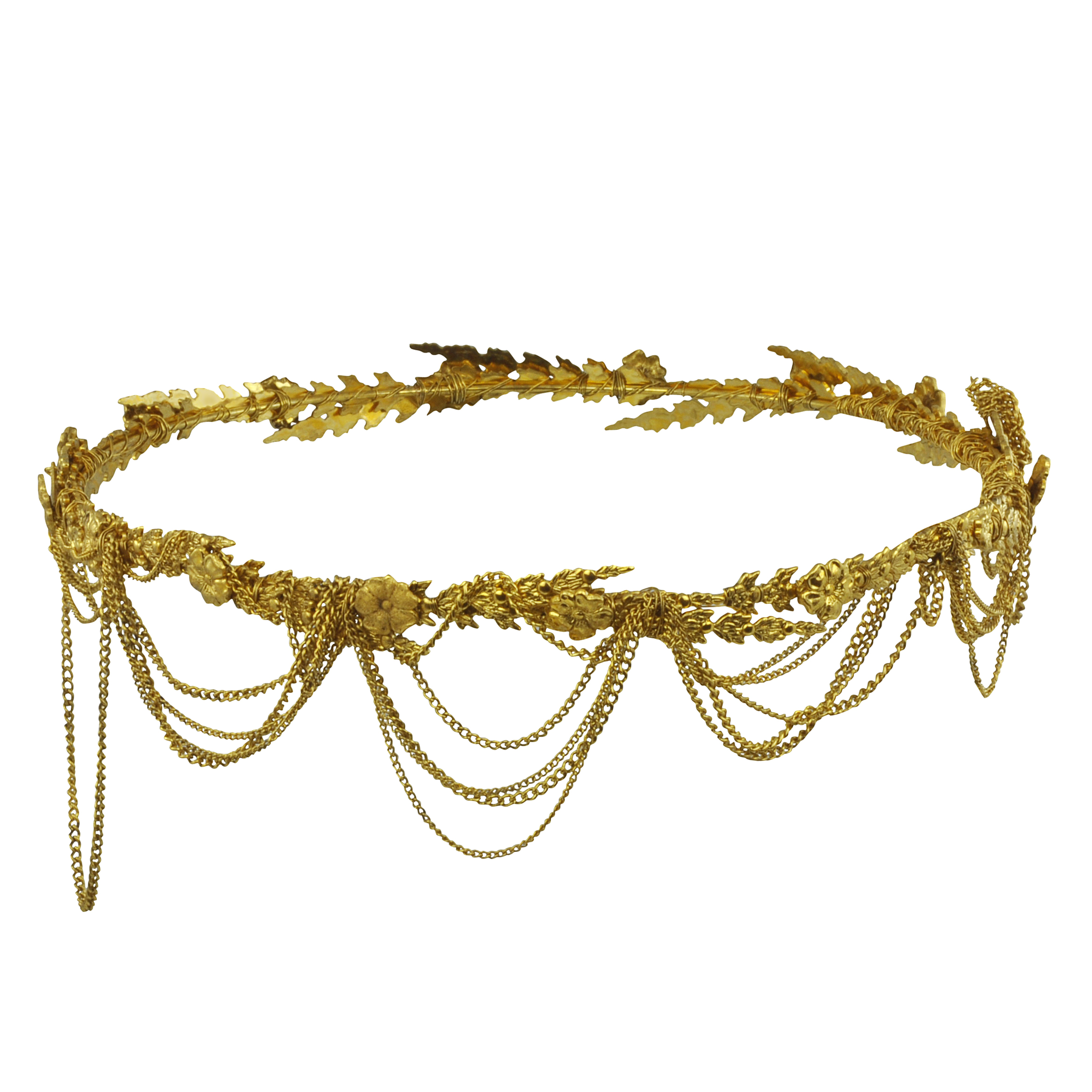 Jenifer Behr Draped Chain Annika Circlet Headpiece - Sophie's Closet
