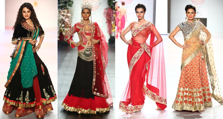TV star Anita Habshani for Sharad Raghav - Suneet Varma - Bhairavi Jaikishan - Model Achal Kumar for Ulka Bafna Vohra