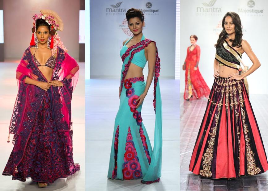 Model Candice Pinto for Rajdeep Ranawat - Actress Urvashi Rautela for Riddhi Siddhi - Actress Lisa Haydon for Nivedita Saboo