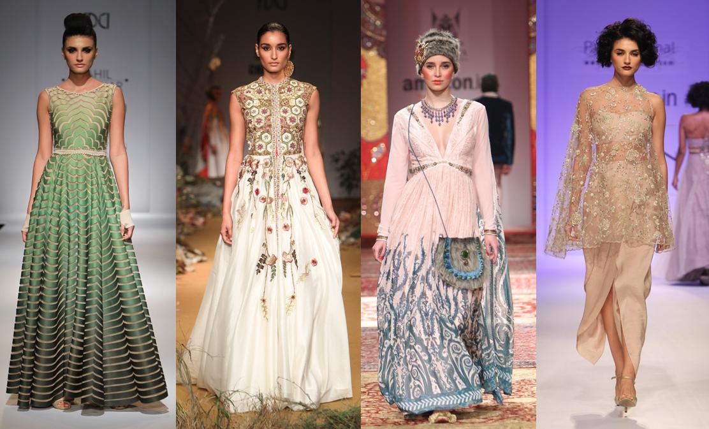 Pankaj & Nidhi, Malini Ramani, Rina Dhaka, Kavita Bhartia - AIFW AW 2015