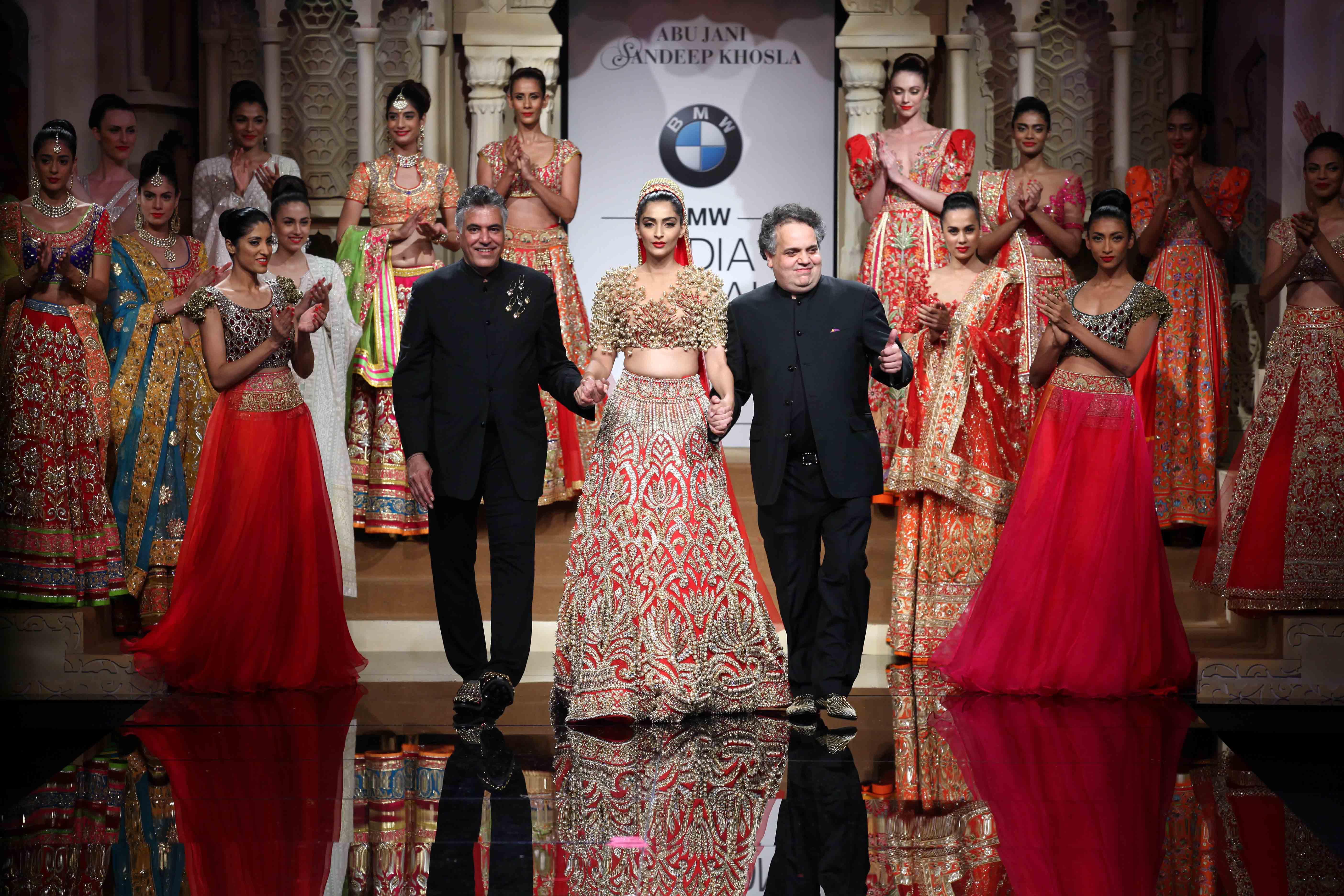 Sonam Kapoor in Abu Jani Sandeep Khosla at the opening of BMW IBFW