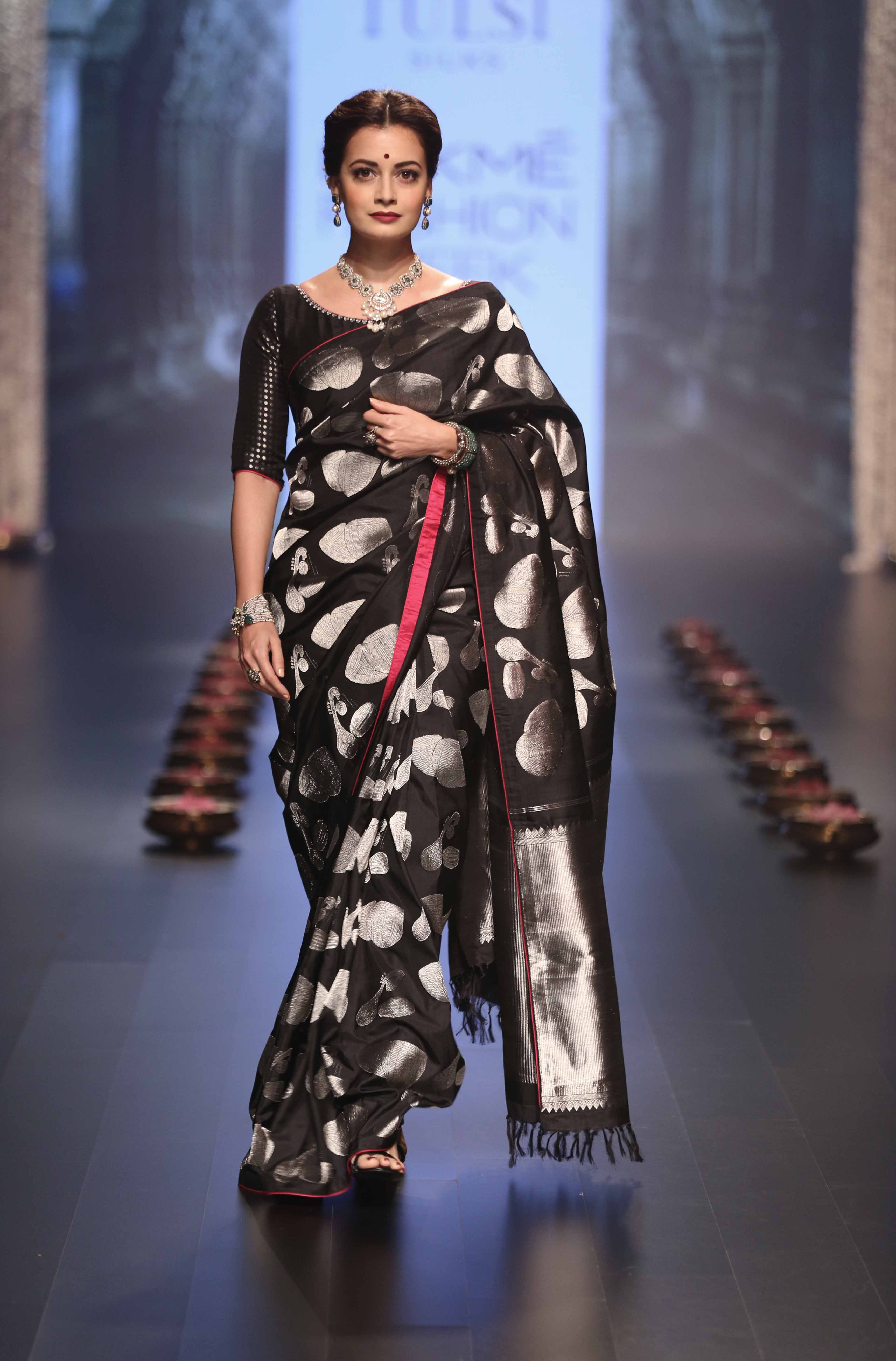 Dia Mirza for Santosh Parekh - Tulsi Silks - Lakmé Fashion Week Winter-Festive 2016
