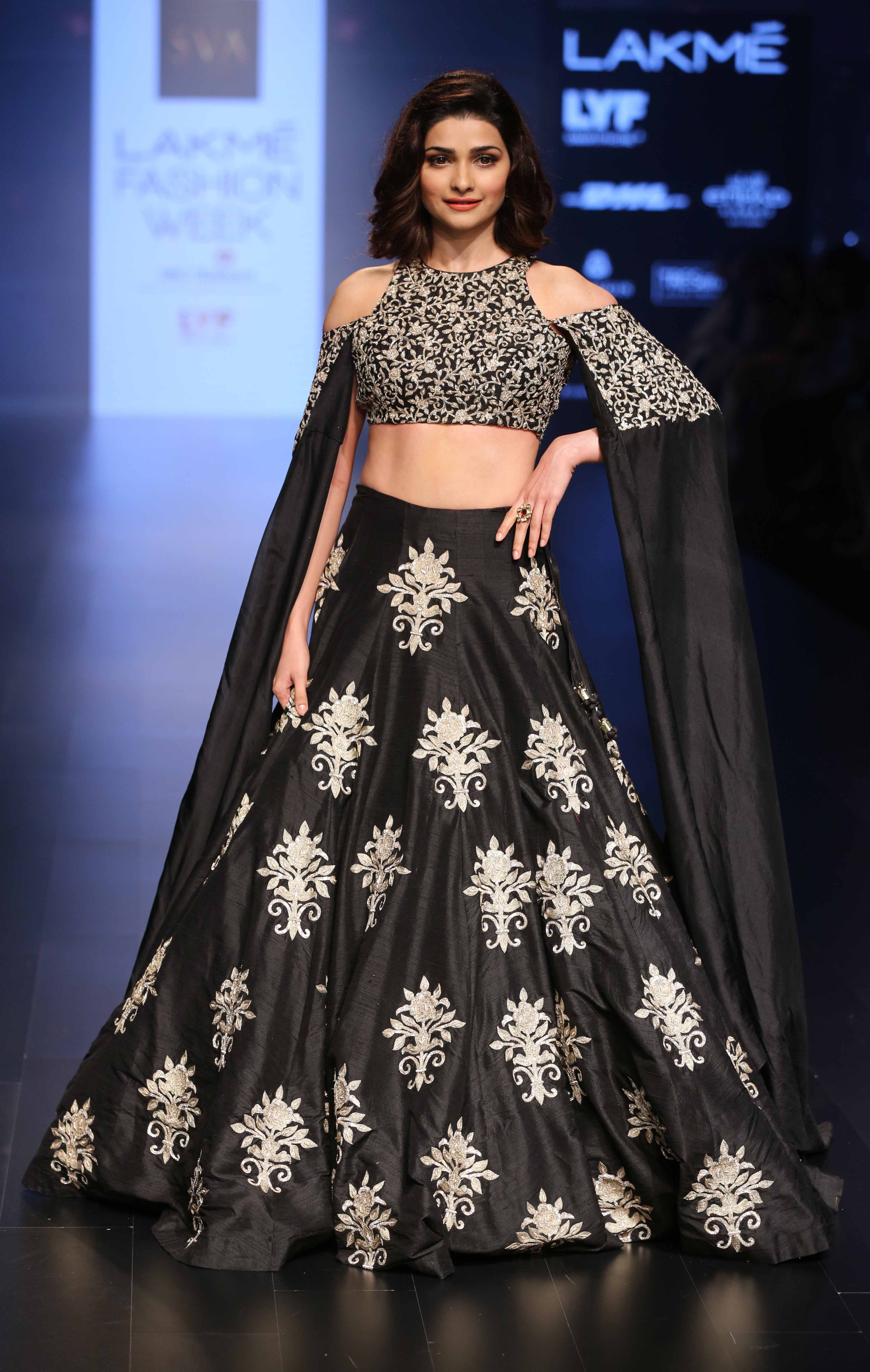 Prachi Desai for Sonam and Paras Modi - Lakmé Fashion Week Winter-Festive 2016