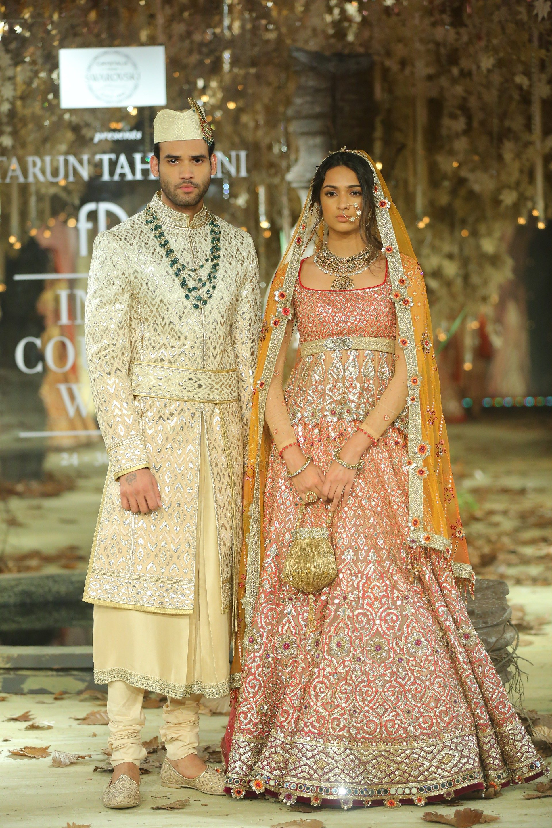 "Crystals from Swarovski presents ""Tarakanna"" – the Bridal Couture Collection 2017-18 by Tarun Tahiliani at FDCI India Couture Week 2017"