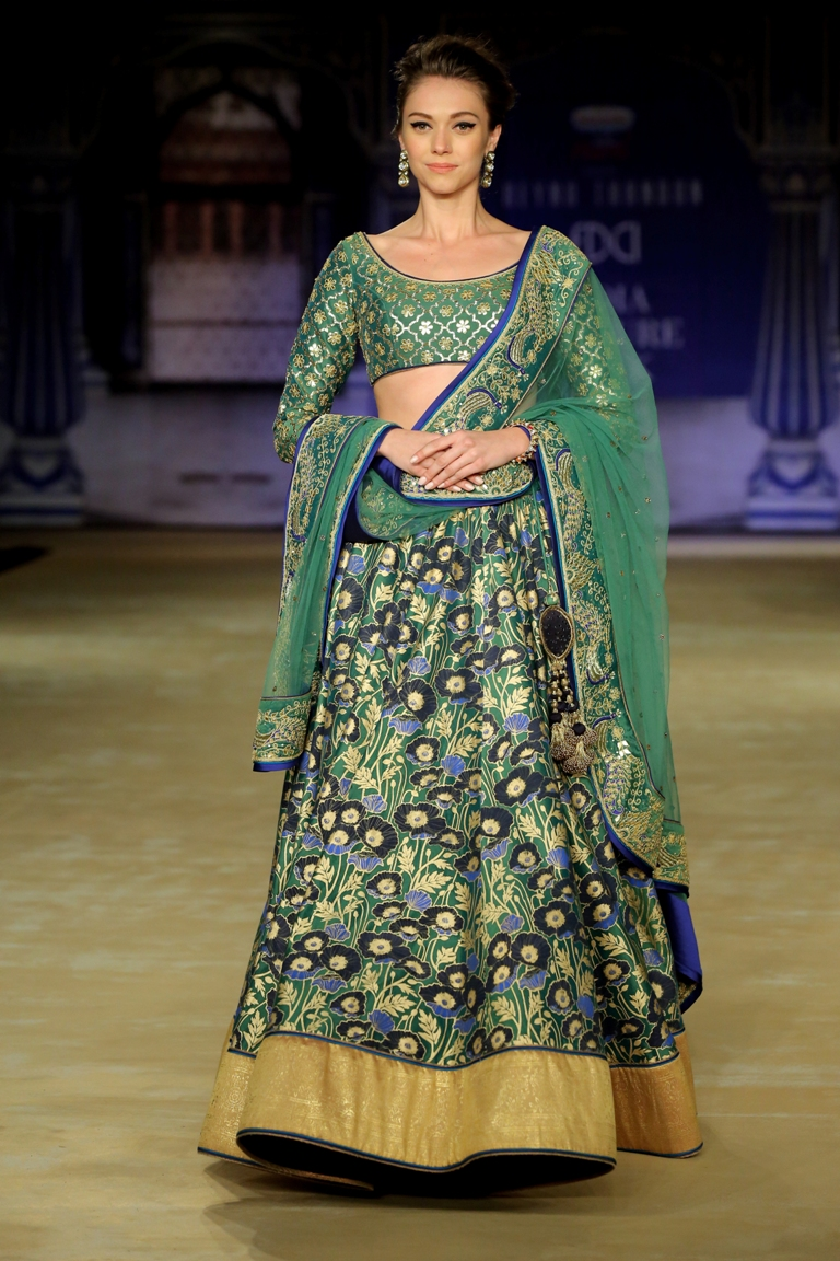 Designer Reynu Taandon In Association with Rajnigandha Presents CYAN - Time to Find the Calm in the Chaos @ FDCI India Couture Week 2017