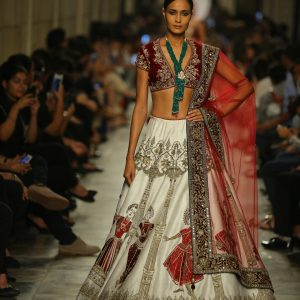 Models Showcasing collection by Designer Manav Gangwani at FDCI India Couture Week 2017