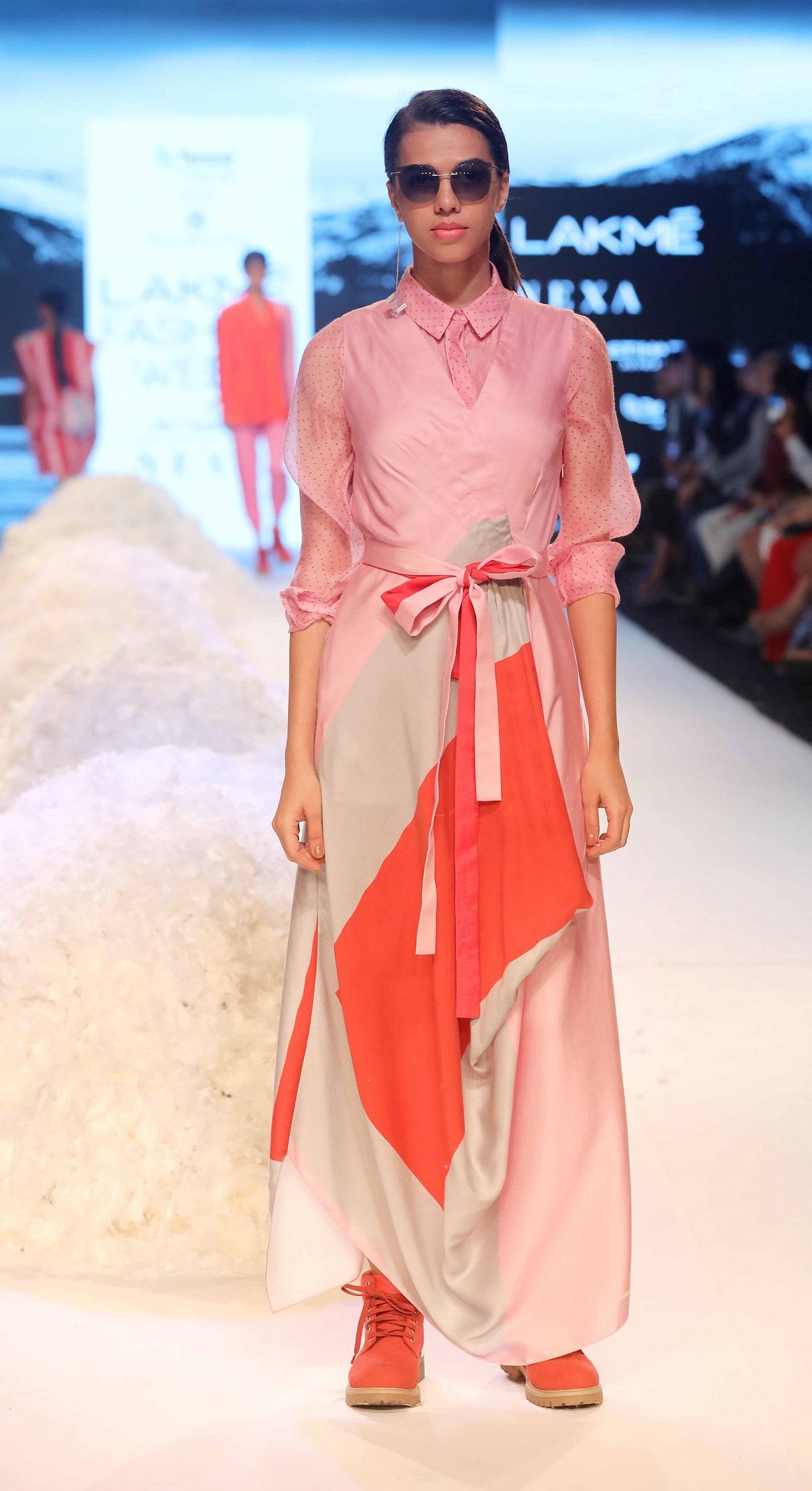 Rajesh Pratap Singh's collection Tencel™ 1.0 presented at Lakme Fashion Week Summer Resort 2018