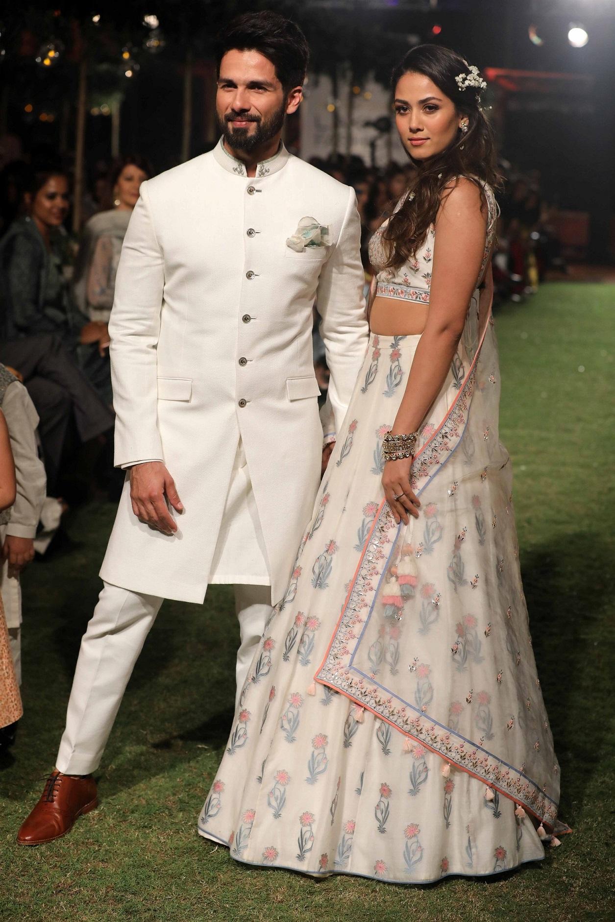 Shahid Kapoor and Mira Rajput at Anita Dongre's Songs of Summer at Lakme Fashion Week 2018