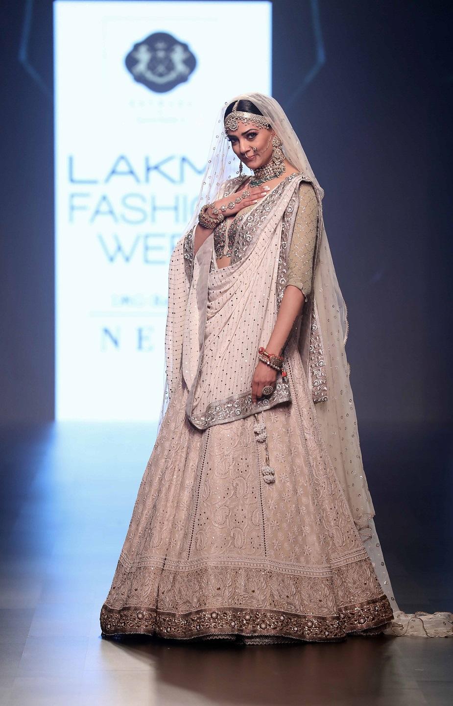 Showstopper Sushmita Sen for Sama Ali's collection Samanzar - A Garden of Flowers at Lakme Fashion Week 2018