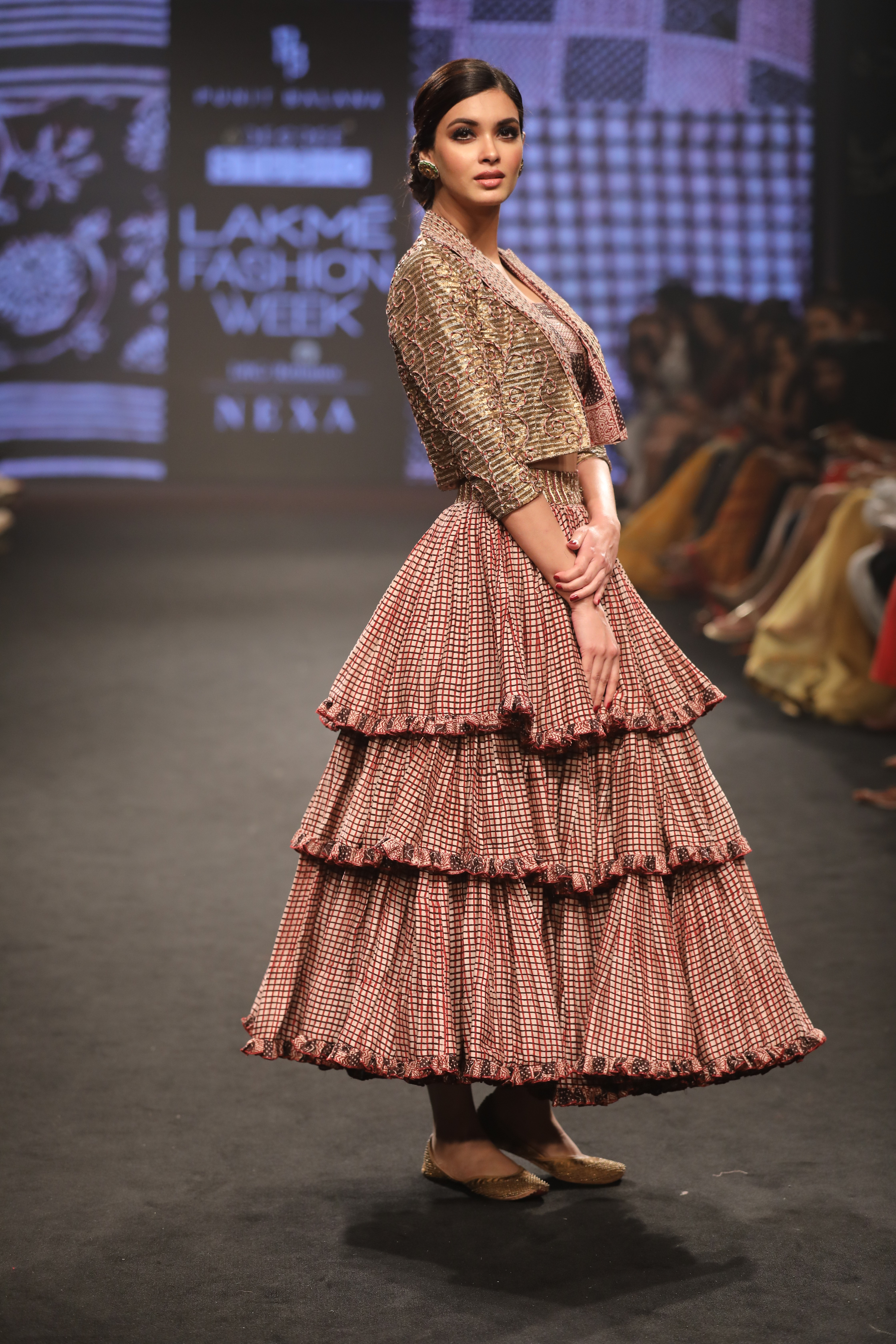 Showstopper Diana Penty for Punit Balana at Lakme Fashion Week Summer Resort 2018