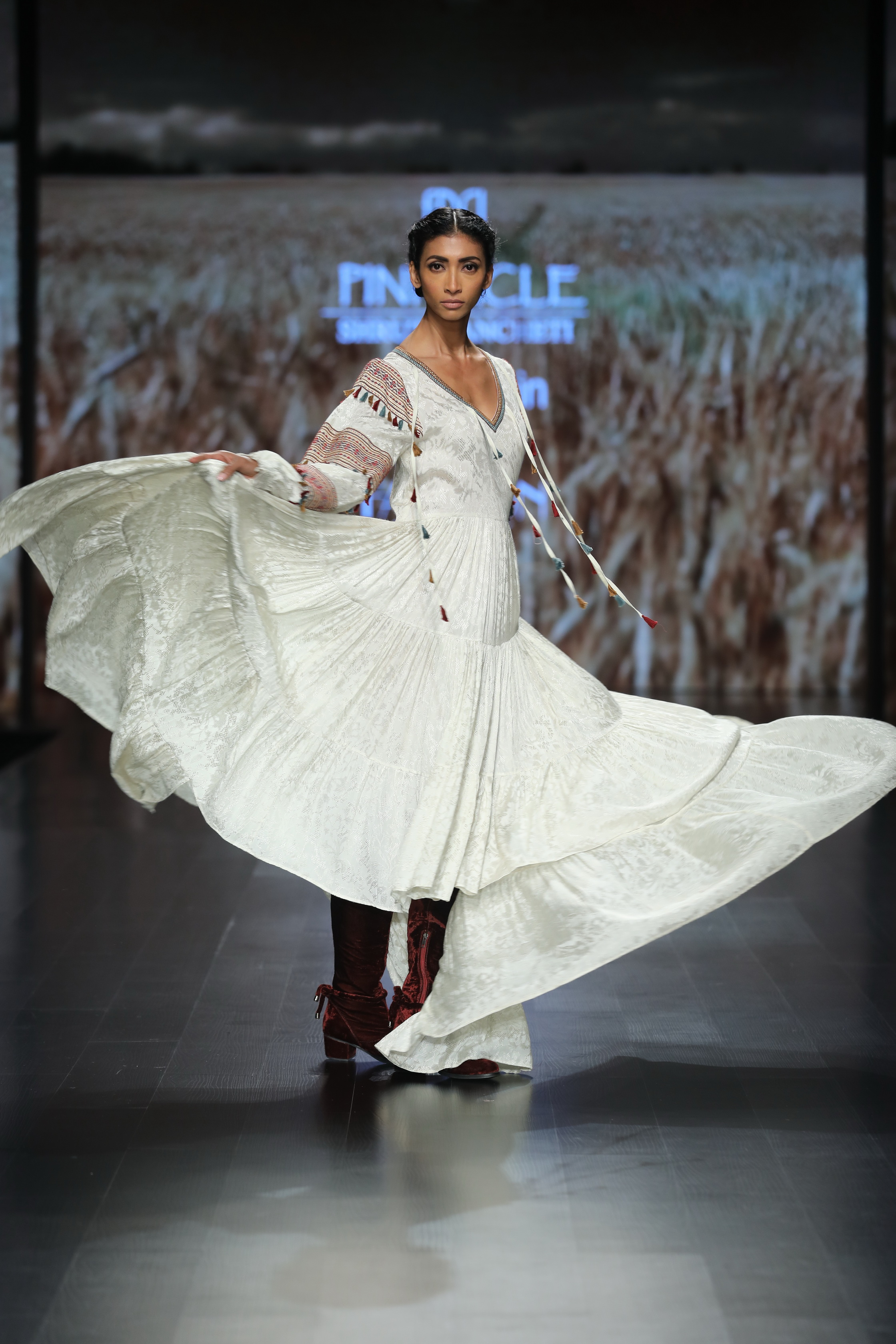 Pinnacle by Shruti Sancheti at FDCI Amazon India Fashion Week Autumn Winter 2018