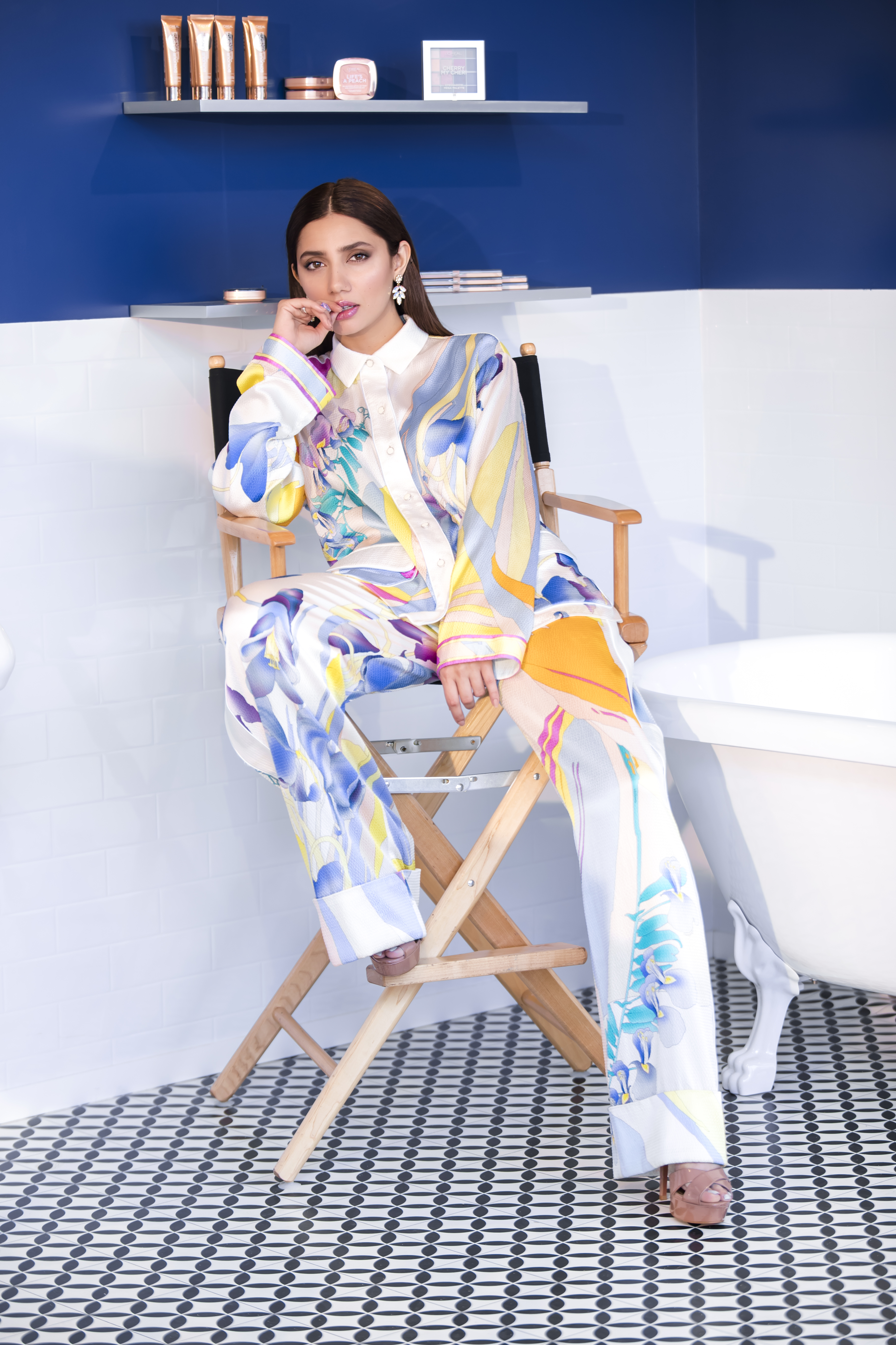 L'Oreal Paris Pakistan Hair Care Spokesperson Mahira Khan in Cannes wearing Leonard Paris