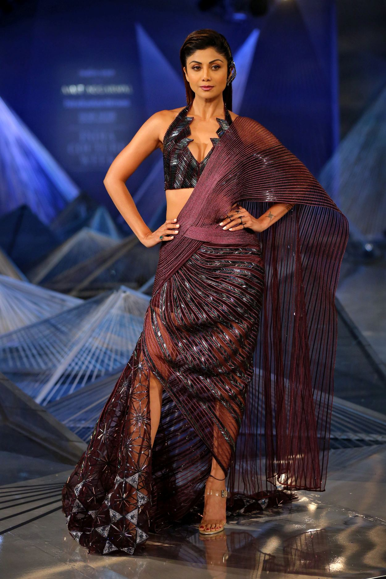 Amit Aggarwal at FDCI India Couture Week 2018 worn by Shilpa Shetty