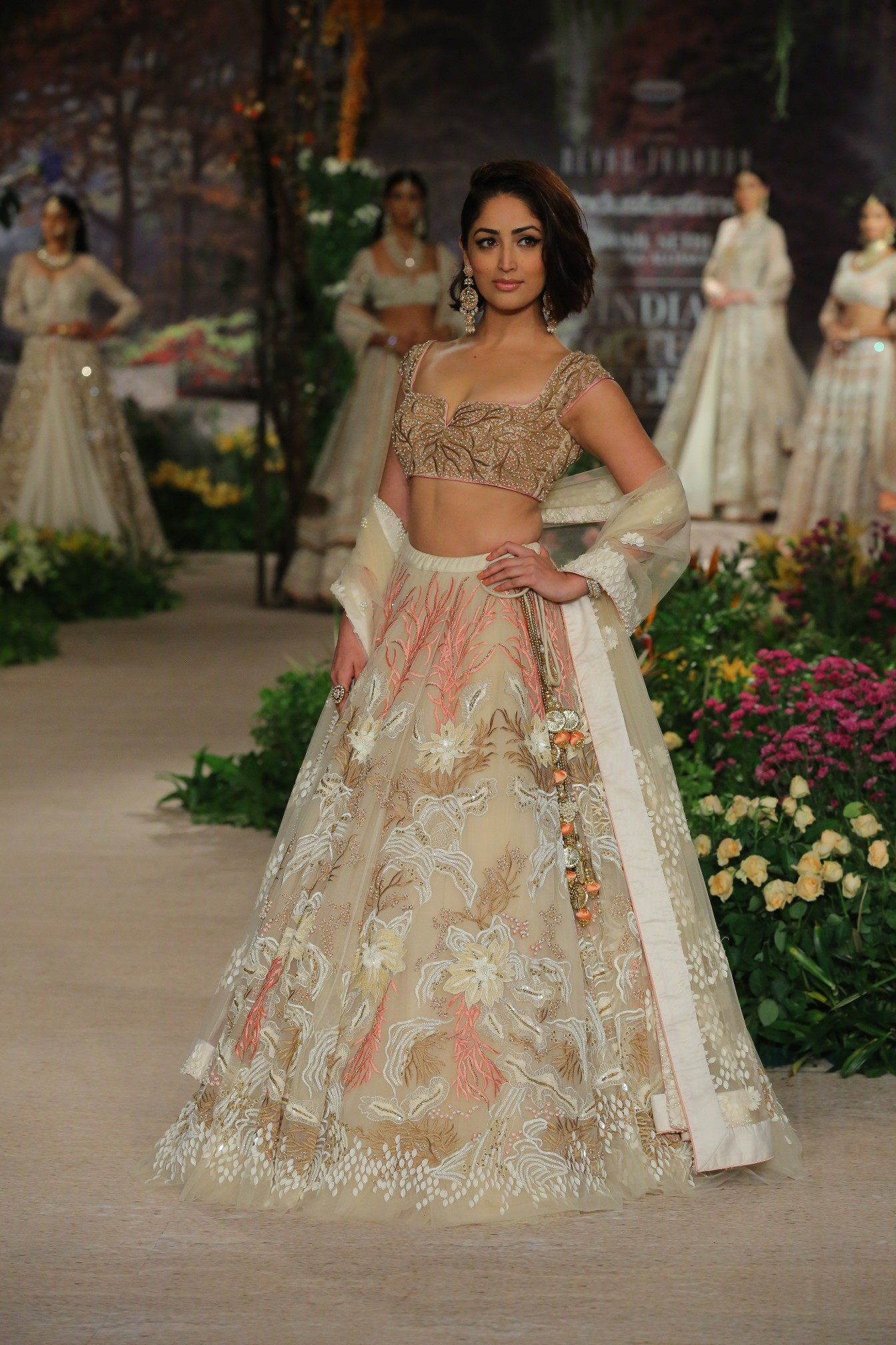 Once Upon A Dream by Designer Reynu Taandon at FDCI India Couture Week 2018 worn by Yami Gautam