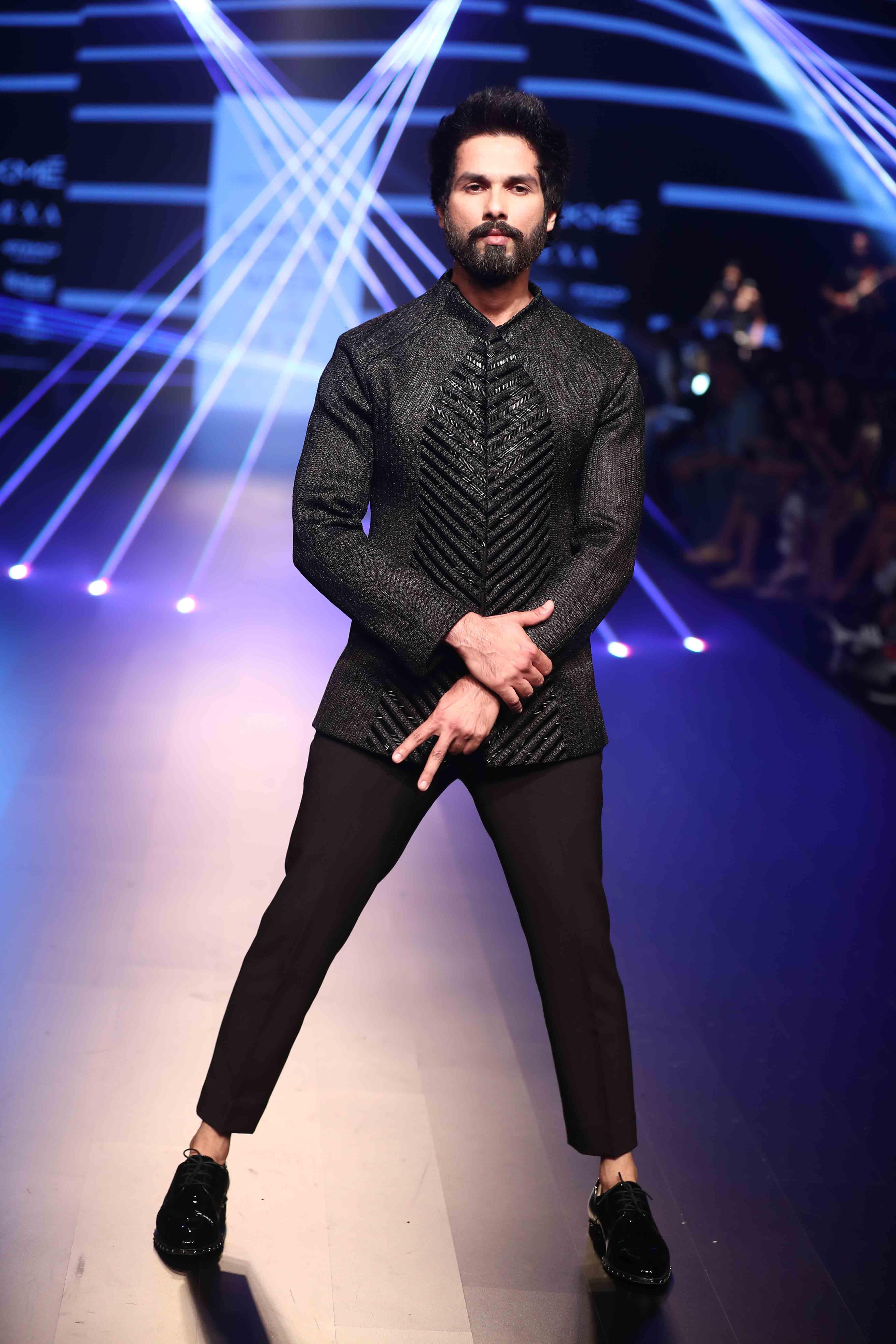 Shahid Kapoor for Amit Aggarwal - Lakme Fashion Week Winter Festive 2018