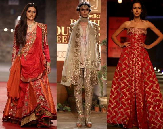 Anju Modi, Sabyasachi, Monisha Jaising at PCJ Delhi Couture Week - Fashion Design Council of India